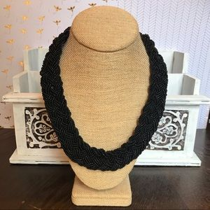 Black Braided Bead Nacklace